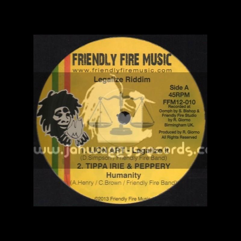 """Friendly Fire Music-12""""-Legalize Riddim Feat.Lion Art, Tippa Irie, Peppery, YT & Murray Man"""