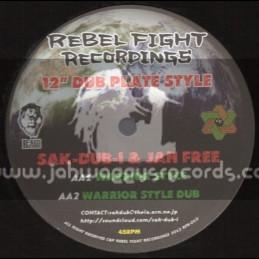 "Rebel Fight Recordings-12""-Terra Bites/2Shanti Meets Original Kose+Warrior Style/Sak-Dub-I & Jah Free"