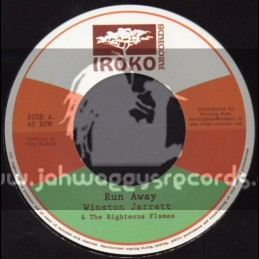 "Iroko Records-7""-Run Away / Winston Jarrett & The Righteous Flames"