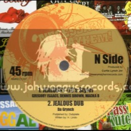 "Necessary Mayhem-12""-Jealousy / Gregory Issacs , Dennis Brown & Macka B"