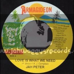 """Armagideon-7""""-Love Is What We Need / Jah Peter"""