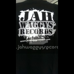 Jah Waggys Records-T Shirts-Black With White Print-GILDAN Premium Cotton Adult T Shirt
