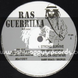 """Ras Guerrilla Music-10""""-Strong Survive/Tony Roots+Call On Rastafari/Barry Issac+No More/Christine Miller(Disciples)"""