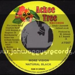 """Ackee Tree Records-7""""-More Vision / Natural Black"""