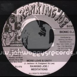 """Ranking Joe Records-7""""-More Love & Unity / Ranking Joe - Meditations"""