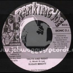 "Ranking Joe Records-7""-Truth And Right / Sugar Minott"