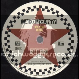 """Red Star Music-7""""-Get It Right / Maddy Carty"""