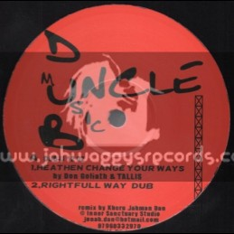 """Uncle Dub Music-12""""-Heathen Change Your Ways / Don Goliath & Tallis"""