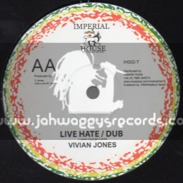 """Imperial House Music-10""""-Live Hate + Serve Thee / Vivian Jones"""