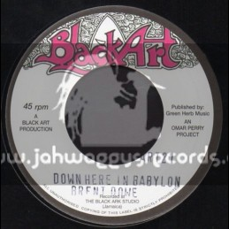 "Black Art-7""-Down Here In Babylon / Brent Dowe"