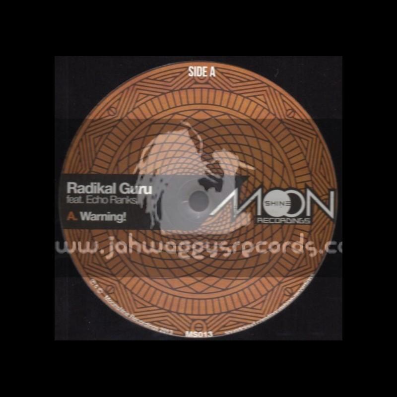 """Moonshine Recordings-12""""-Warning / Echo Ranks / Radikal Guru, Violin Boy, Dubkasm"""