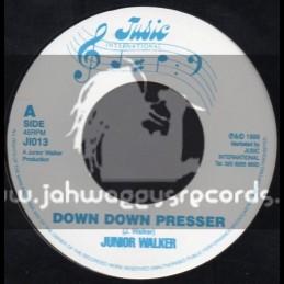 """Jusic International-7""""-Down Down Presser Man / Junior Walker"""