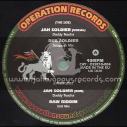 """Operation Records-10""""-Jah Soldier / Daddy Teacha"""