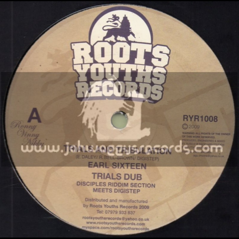"""Roots Youths Records-12""""-Trials And Tribulations / Earl 16 + Man A Lion / Disciples Meets Digistep"""