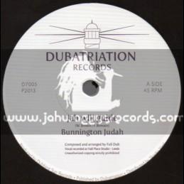 """Dubatriation Records-7""""-Jah Will Guide / Bunnington Judah"""