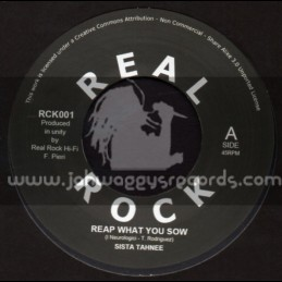 """Real Rock-7""""-Reap What You Sow / Sista Tahnee"""