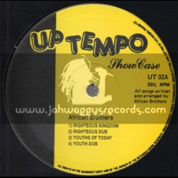 """Up Tempo-10""""-African Brothers - Showcase (Vocal & Dubwise)"""