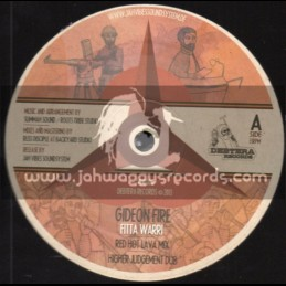 "Debtera Records-12""-Gideon Fire / Fitta Warri + Righteous Warriors / King Dubear"