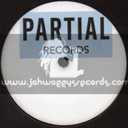 "Partial Records-7""-(Test Press) Gun Man / King General - Bush Chemist"