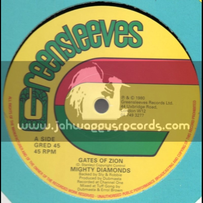 """Greensleeves-12""""-Gates Of Zion / Mighty Diamonds"""