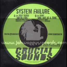"""Crucial Sounds-7""""-Hotter Fire / Mikey Murka + One Day At A Time / Ilawy"""