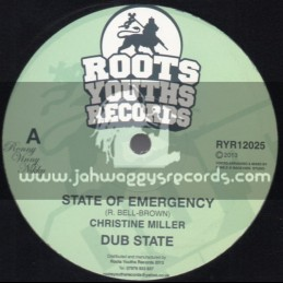 "Roots Youths Records-12""-State Of Emergency / Christine Miller + War / The Disciples"