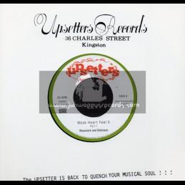 "Upsetters-7""-Weak Heart Feel It / Shaumark & Robinson"