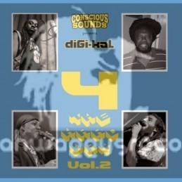 Conscious Sounds-LP-Digi-Kal-4 The Hard Way - Vol 2-Murray Man , Mike Brooks , Cian Finn & Dixie Peach