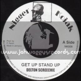 "Nigger Kojak-7""-Get Up Stand Up / Delton Screechie"