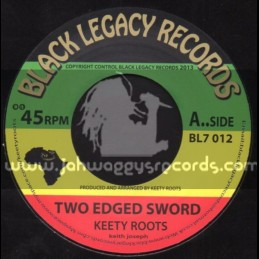 """Black Legacy Records-7""""-Two Edged Sword / Keety Roots"""
