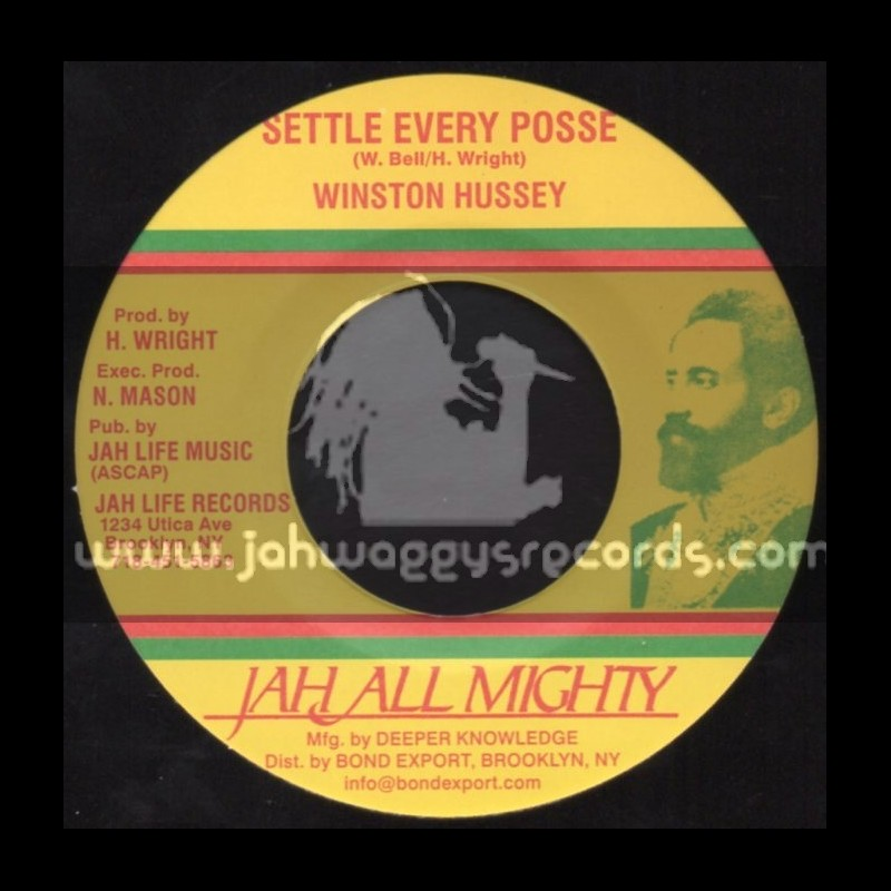 """Jah All Mighty-7""""-Settle Every Posse / Winston Hussey"""