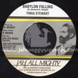 """Sir Collins-7""""-Babylon Falling / Tinga Stewart"""