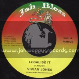 "Jah Bless-7""-Legalise It / Vivian Jones"