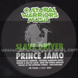 "Cultural Warriors Music-7""-Slave Driver / Prince Jamo"