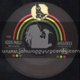 """Jah Solid Rock-7""""-Walls Of Jericho / Addis Pablo + To The Chief Musicians / Jah Exile"""