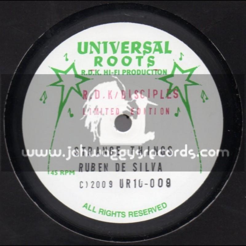 "Universal Roots-10""-Strange Things / Ruben De Silva + Jah Is The Ruler / Peter Roots"