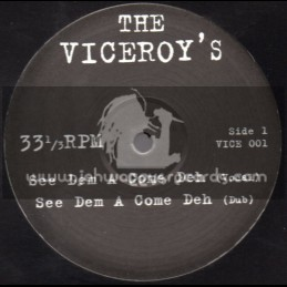 """The Viceroys-10""""-See Dem A Come Deh + Live Come See / The Viceroys"""