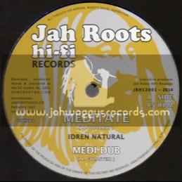 """Jah Roots Hi Fi Records-12""""-Meditate / Idren Natural (Dubcreator)"""