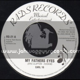 """Rads Records-7""""-My Fathers Eyes / Earl 16"""