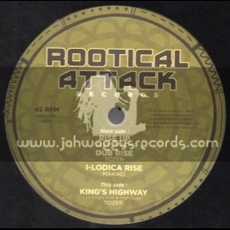 "Rootical Attack Records-12""-Rise Up / Dixie Peach (Makiko) + Kings Highway / Tozer"