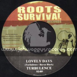 """Roots Survival Records-7""""-Lovely Days / Turbulence + Racines / Big Famili"""
