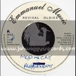 """Emmanueul Music-7""""-Mop N Cry / Freddie McKay"""