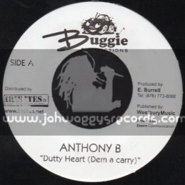 """Buggie Productions-7""""-Dutty Heart / Anthony B + Make It One Day / Suga Roy & Conrad Crystal"""