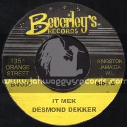 """Beverleys Records-7""""-It Mek / Desmond Decker"""