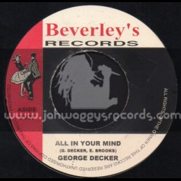 "Beverleys Records-7""-All In Your Mind / George Decker"