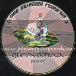 "Dub Invasion Records-7""-Queen Omega / S.Genco Meets King Alpha"