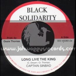 "Black Solidarity-7""-Long Live The King / Captain Sinbad"