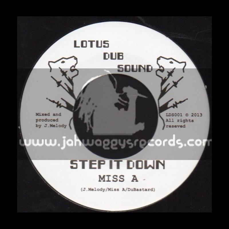 """Lotus Dub Sound-7""""-Step It Down / Miss A"""