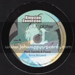 "Kingston Connexion Dub Plates-10""-Word Sounds & Power / Enos Mcleod"