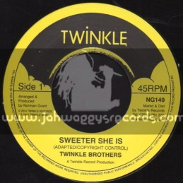 "Twinkle Brothers-7""-Sweeter She Is / Twinkle Brothers"